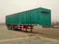 Shandong liangshan 40ton 3 Axles box type semi trailer 2