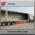 Shandong liangshan 40ton 3 Axles box type semi trailer 4