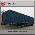 Shandong liangshan 40ton 3 Axles box type semi trailer 3