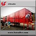 Shandong liangshan 40ton 3 Axles box type semi trailer