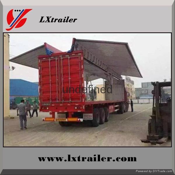 China Cheap wing opening box semi trailer 1