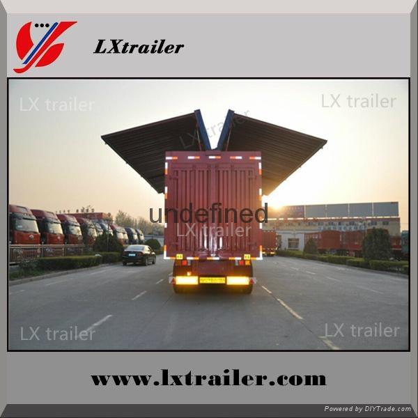 China Cheap wing opening box semi trailer 4