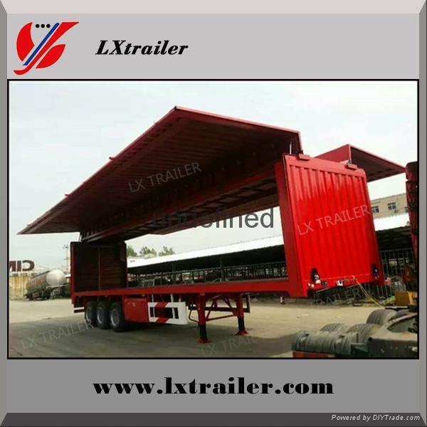 China Cheap wing opening box semi trailer 3