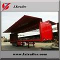 China Cheap wing opening box semi trailer