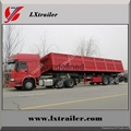 china 3 axle 45 cubic meters sand dump trailer good price