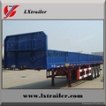 60 Tons flatbed side wall open cargo truck trailer truck vehicle