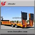 3 axles hot selling flat bed semi trailer,tri-axle low bed semi trailer