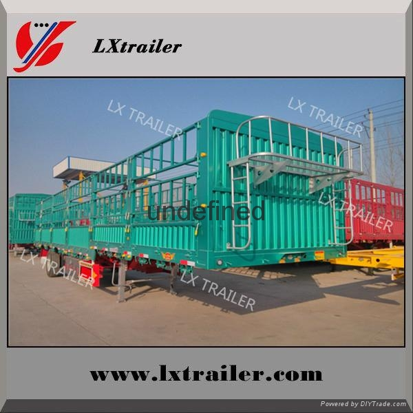china Liangshan fence semi-trailer 40 ton lowbed semi trailer 2