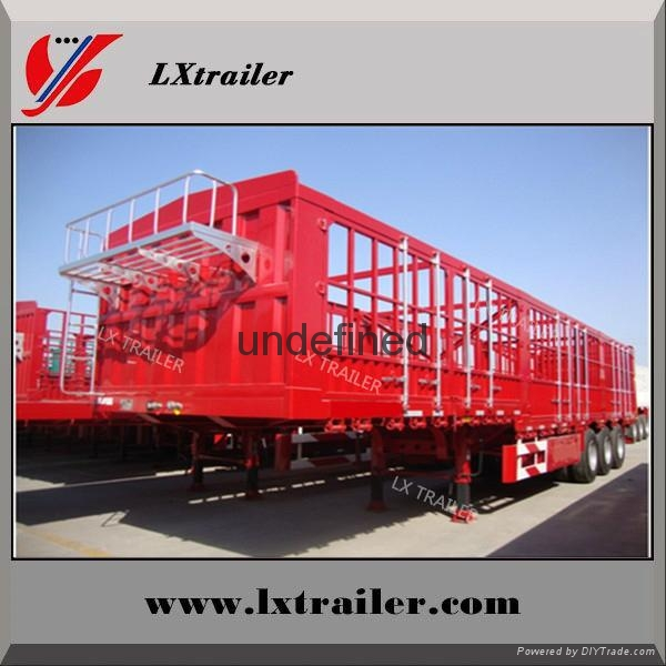 china Liangshan fence semi-trailer 40 ton lowbed semi trailer 3