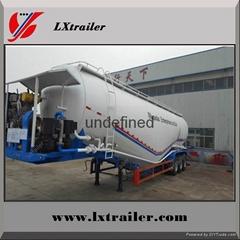 China cheap cement transport semi truck trailer bulk powder tanker trailer