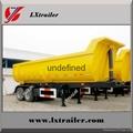 50 ton 3 axles end trailer dump end tipping truck trailers