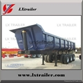 50 ton 3 axles end trailer dump end tipping truck trailers