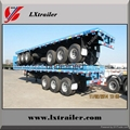 High quality 3 axle tractor truck use 40ft container flatbed semi trailers