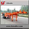 40ft, 2,3 axles container skeleton semi trailer