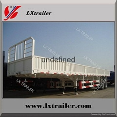China factory sale 3 Axle Side Wall Semi Trailer Truck Sale