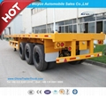 3 Axle Platform Semi Trailer with Front
