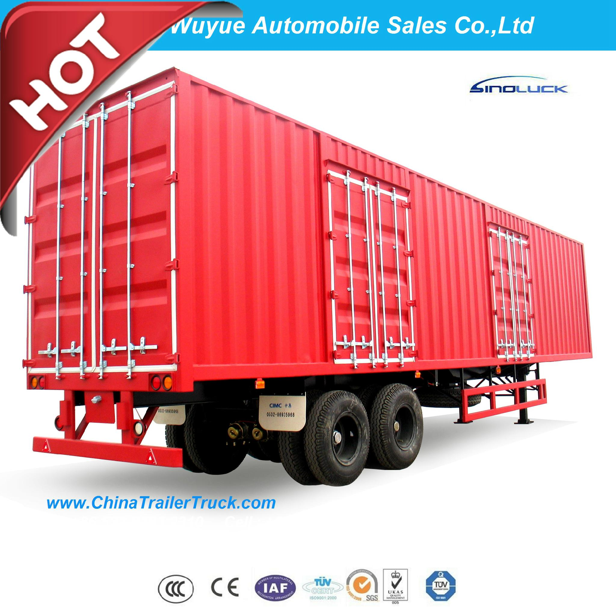 Box Van Truck Semi Trailer or Van Semi Truck Trailer 2