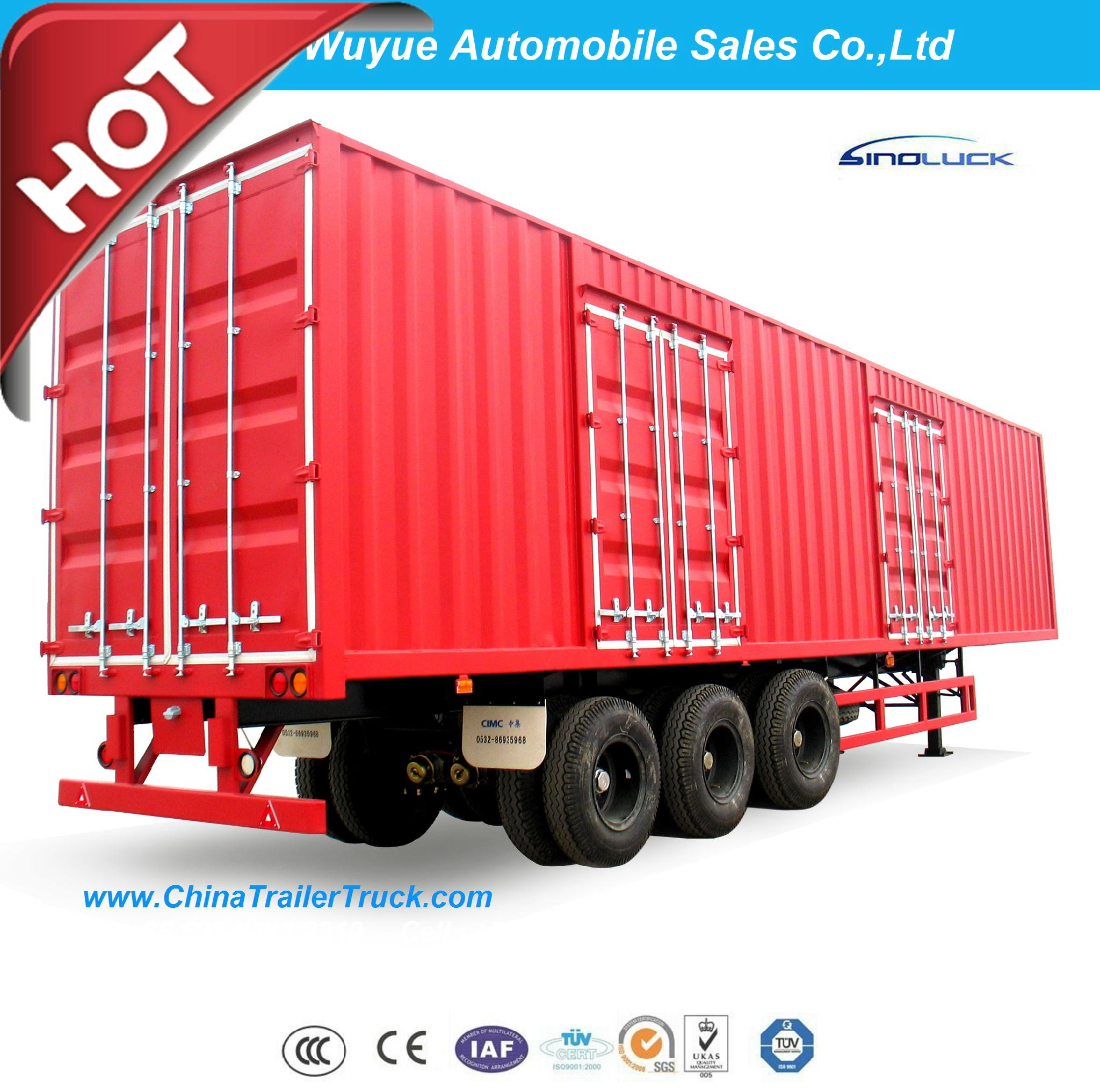Box Van Truck Semi Trailer or Van Semi Truck Trailer 3
