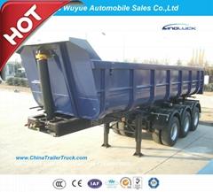 3 Axle 45cbm U Shape Dump Semitrailer or