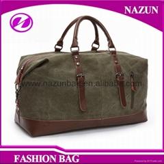 custom design canvas overnight bag large tote bag fashion vintage duffel bag