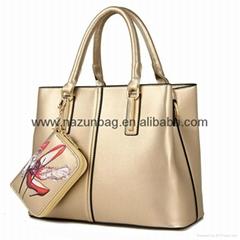 fashion custom design China new style shoulder bag woman handbags with wallet