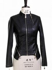 Fashion Women Faux Soft Leather Jackets