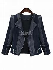Fashion Women Black Jacket Outerwear