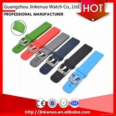 Quality garanteed soft 22mm sport silicon bracelet watch strap for smart watch