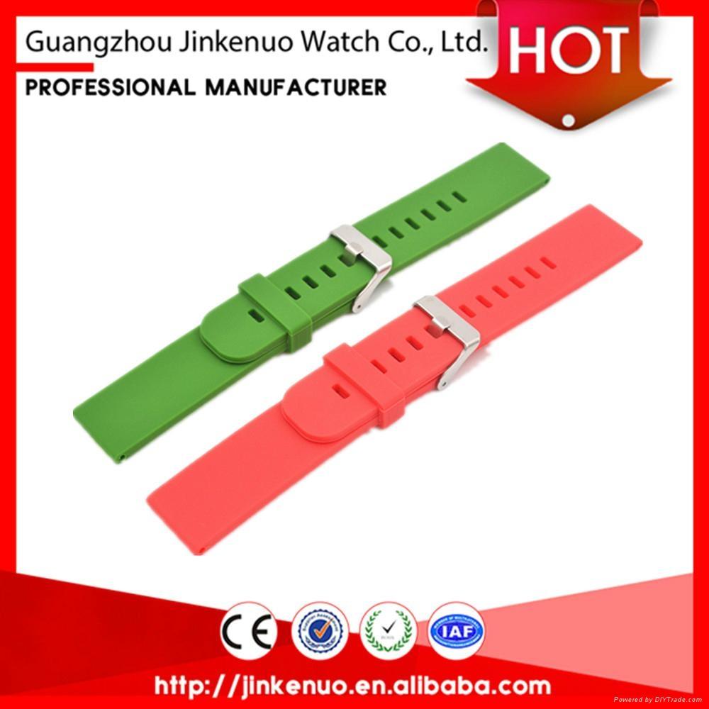 Quality garanteed soft 22mm sport silicon bracelet watch strap for smart watch 2