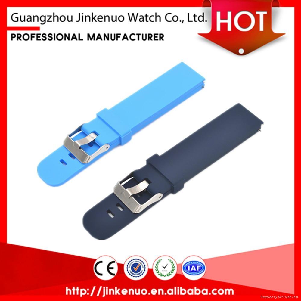 Quality garanteed soft 22mm sport silicon bracelet watch strap for smart watch 4