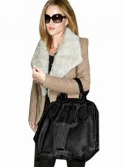 Women Fashion Lapel Khaki Black Long Sleeve Coat