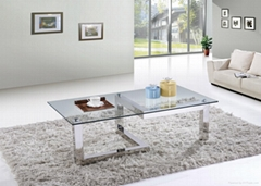SHIMING MS-3353 Round wooden (MDF) top classic coffee table