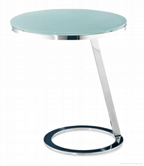 SHIMING MS-3316 Tempered glass with stainless steel small side table