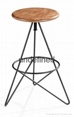 SHIMING FURNITURE MS-3228 solid wood bar stool