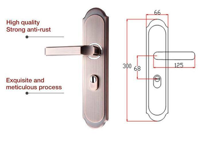 Home door lock handle room door handle  2