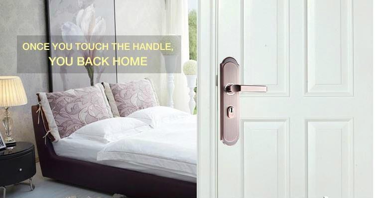 Home door lock handle room door handle  3