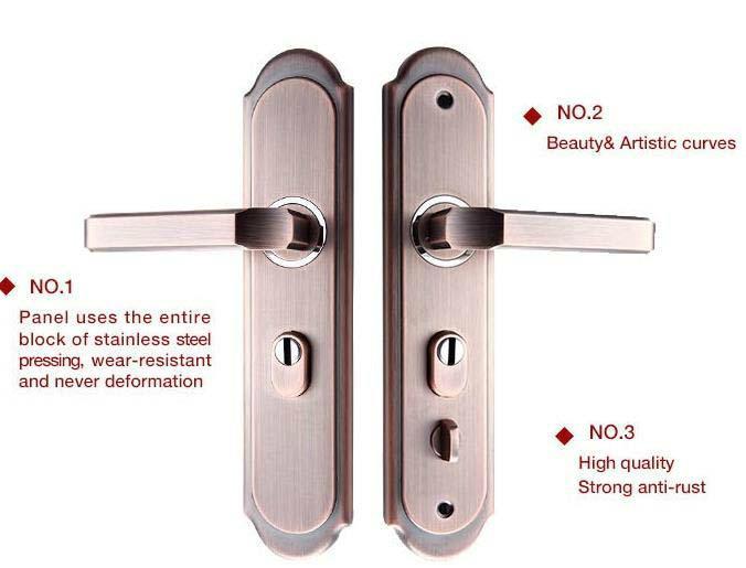 Home door lock handle room door handle  4