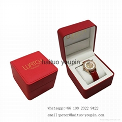 Wholesale Luxury PU Leather Jewelry Strorage Boxes custom Watch Box