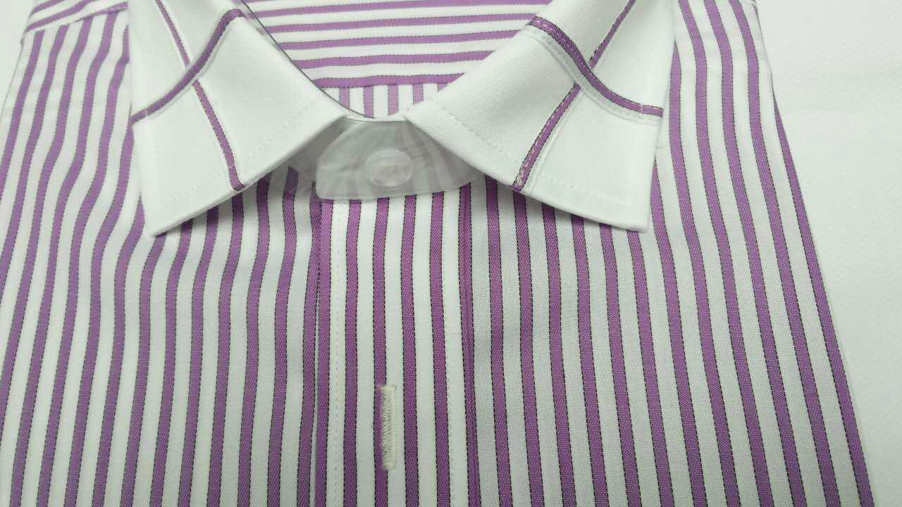 男士素色条纹休闲衬衫 1