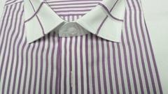 男士素色條紋休閑襯衫