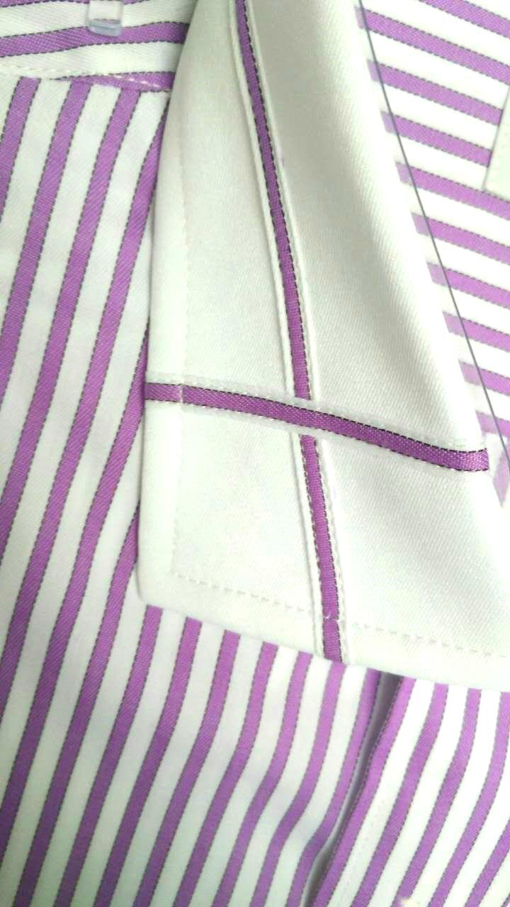 男士素色条纹休闲衬衫 3