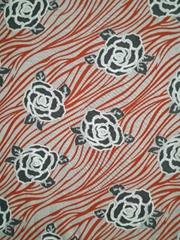 丝盖棉烧花印花布