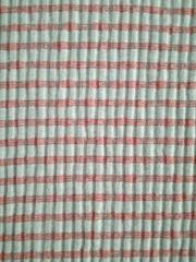 粗针色织罗文条子针织布