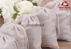 10.5*15.5CM棉麻布束口袋