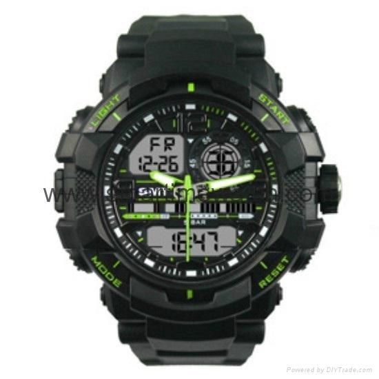 Multi Function Waterproof Digital LCD Alarm Sport Watch  SMT-2000 1