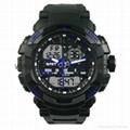 Multi Function Waterproof Digital LCD Alarm Sport Watch  SMT-2000 4