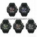 Multi Function Waterproof Digital LCD Alarm Sport Watch  SMT-2000 8