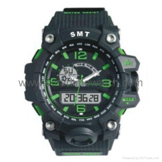 Analog Digital Sport Waterproof Watch SMT-2005 1