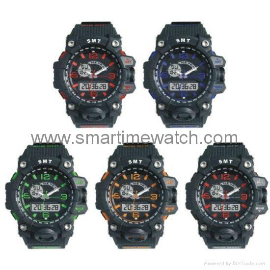 Analog Digital Sport Waterproof Watch SMT-2005 6