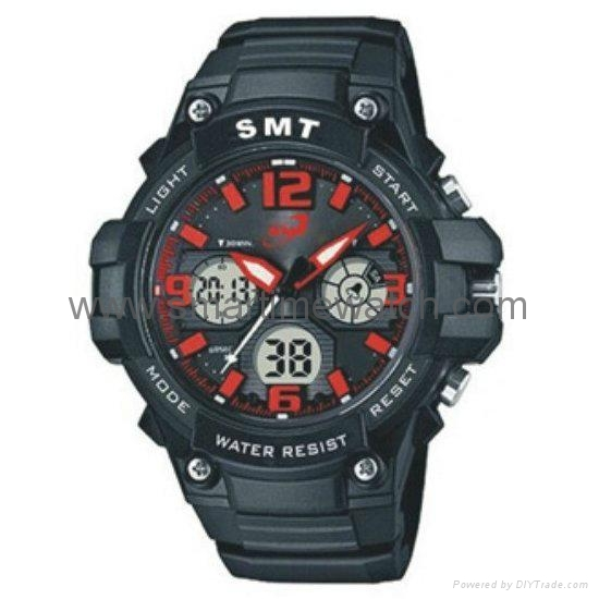 Analog Digital Sport Waterproof Watch SMT-2004